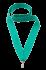Лента для медалей мятная, ширина 22 мм.