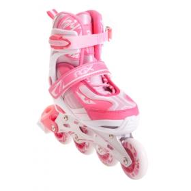 Раздвижные роликовые коньки Wind white/pink