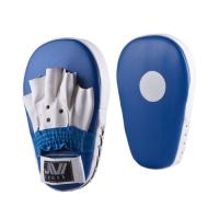 Лапы боксерские прямые (иск. кожа) Е047 сине-белые