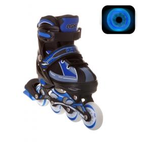 Раздвижные роликовые коньки Fantom Blue LED подсветка колес