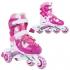 Раздвижные роликовые коньки TEDDY fuchsia