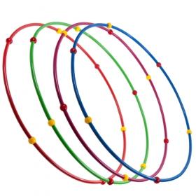 Обруч гимнастический с шариками D=900 мм. 900 гр.