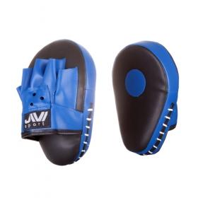 Лапы боксерские гнутые (иск. кожа) Е055 черно-синие
