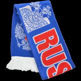 Шарф с белым орлом и красным щитом RUS026