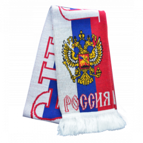 Шарф с черно-желтым орлом с красным щитом RUS044