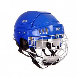 Шлем игрока хоккейный с маской RGX синий