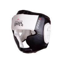 Шлем боксерский BHG-23 Чёрный/Белый