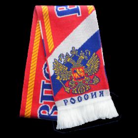 Шарф с желто-синим орлом с щитом RUS042
