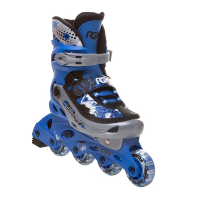 Раздвижные роликовые коньки City blue