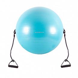 """Мяч гимнастический с эспандером (22"""") 55 см."""