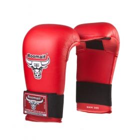 Спарринговые перчатки для каратэ RKM-260 ПУ красные