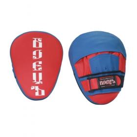 Лапы боксерские гнутые BBP-105 красно-синяя
