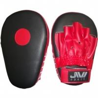 Лапы боксерские прямые (иск. кожа) Е048 сине-красные
