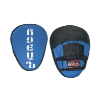 Лапы боксерские гнутые BBP-102 сине-черная