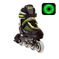 Раздвижные роликовые коньки Atom Green