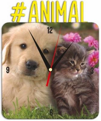 """Металлические часы """"ANIMAL"""" под нанесение 192x243 мм."""