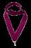 Лента для медалей фиолетовая, ширина 22 мм.