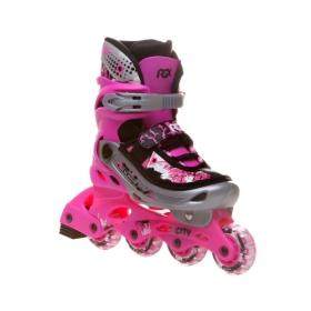 Раздвижные роликовые коньки City pink