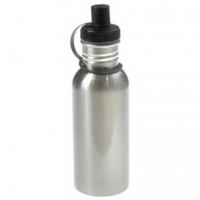 Металлическая бутылка с винтовым горлышком 600 мл (металл, цвет серебро)