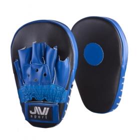 Лапы боксерские прямые (иск. кожа) Е045 черно-синие