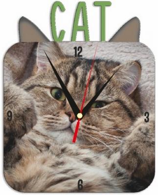 """Металлические часы """"Кошка"""" под нанесение 192x243 мм."""