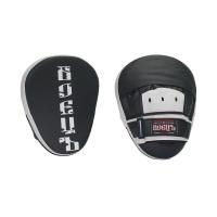 Лапы боксерские гнутые BBP-106 черно-белая