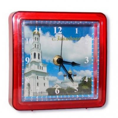 Акриловые часы под вставку цветной корпус, красные