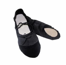 Балетки гимнастические черные Е082
