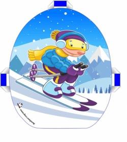 Ледянка мягкая Snowkid 50 см. Лыжник