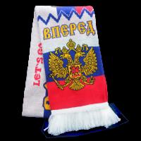 Шарф с черно-желтым орлом с щитом RUS047