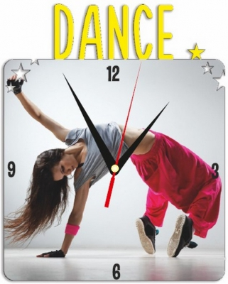 """Металлические часы """"Танцы"""" под нанесение 192x243 мм."""
