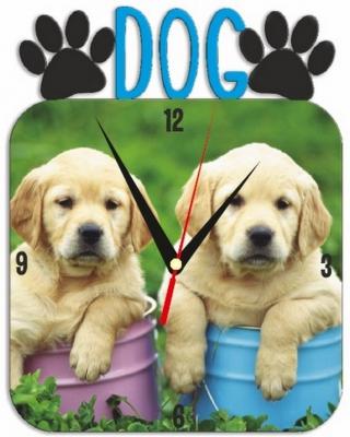 """Металлические часы """"Собака"""" под нанесение 192x243 мм."""