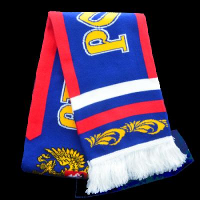 Шарф синий с флагом RUS046