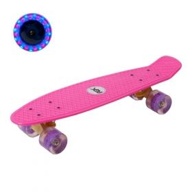 """Мини-круизер PNB-01GW Pink (22"""") светящиеся колеса"""