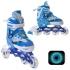 Раздвижные роликовые коньки Sonic Blue LED подсветка колес