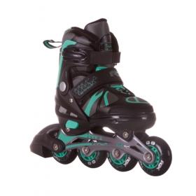 Раздвижные роликовые коньки Titan black/green