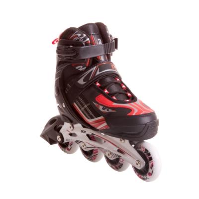 Раздвижные роликовые коньки Wind black/red