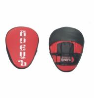 Лапы боксерские гнутые BBP-101 красно-черная