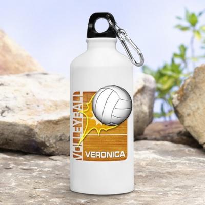 Металлическая фляга спортивная для воды 600 мл (металл, цвет белый)