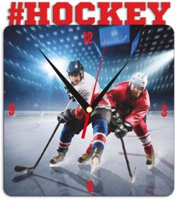 """Металлические часы """"Хоккей"""" под нанесение 192x243 мм."""
