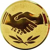 Эмблема для медалей алюминиевая А42 Рукопожатие.