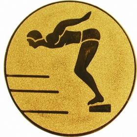 Эмблема для медалей самоклеющаяся Плавание (м).