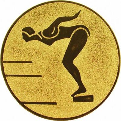 Эмблема для медалей самоклеющаяся Плавание (ж).