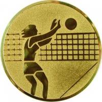 Эмблема для медалей алюминиевая А7 Волейбол (ж).