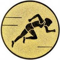 Эмблема для медалей самоклеющаяся Бег (ж).