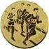 Эмблема для медалей алюминиевая А33 Легкая атлетика/бег/многоборье