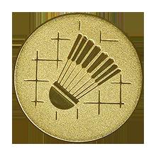 Эмблема для медалей самоклеющаяся Бадминтон.
