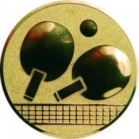 Эмблема для медалей алюминиевая А46 Настольный теннис.