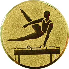 Эмблема для медалей алюминиевая А87 Гимнастика.