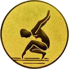 Эмблема для медалей алюминиевая А88 Гимнастика.